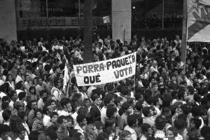 Rally for 'Diretas Já' (direct elections now) rally
