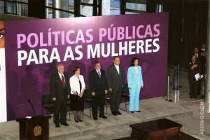 Posse de Emília Fernandes ao cargo de Ministra da Secretaria Nacional de Políticas para as Mulheres