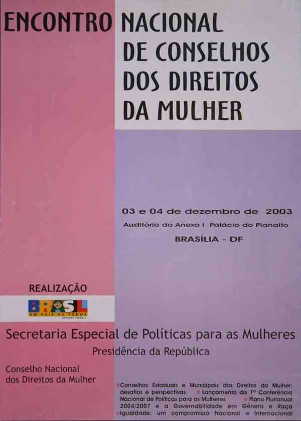 ENCONTRO NACIONAL DE CONSELHOS DOS DIREITOS DA MULHER