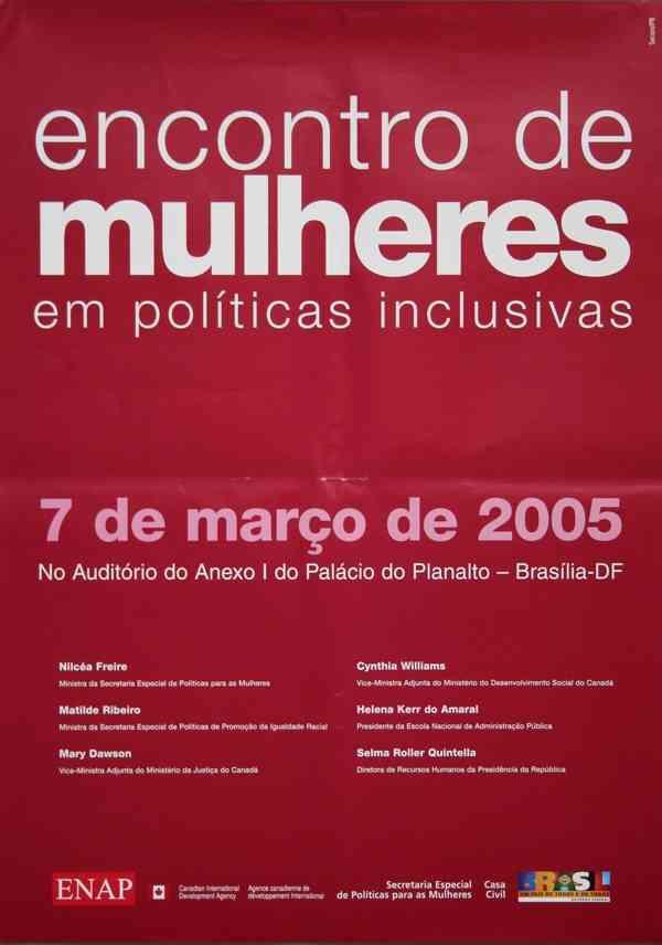 ENCONTRO DE MULHERES EM POLÍTICAS INCLUSIVAS