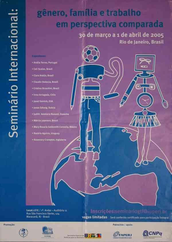 SEMINÁRIO INTERNACIONAL GÊNERO, FAMÍLIA E TRABALHO EM PERSPECTIVA COMPARADA